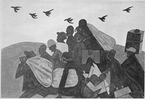 Negros Were Leaving by the Hundreds to go North and Enter Northern Industry by Jacob Lawrence