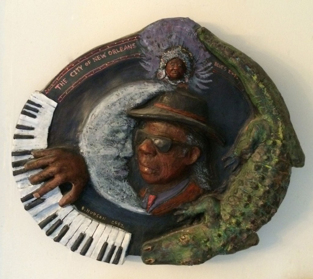 Professor Longhair by my friend and neighbor Steve Hudson. It hangs on our kitchen wall.