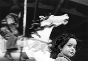 Gypsy Girl at the Carousel, Coney Island, 1949 by Harold Feinstein haroldfeinstein.com