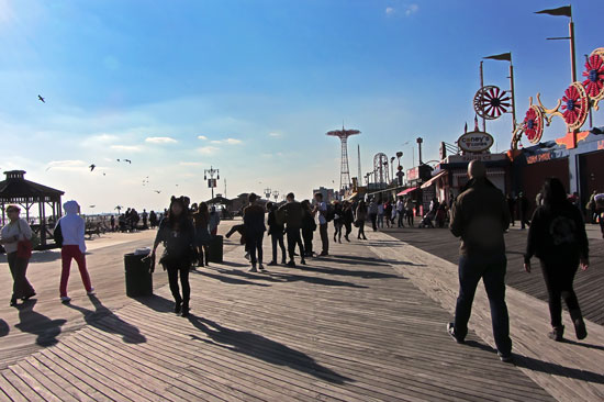 The boardwalk that day. Photo: Jim Blythe
