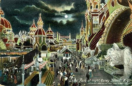 A postcard of the orginal Luna Park, circa 1903